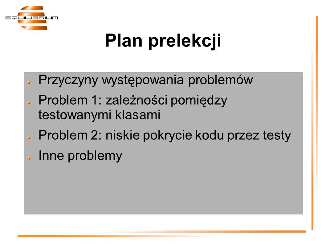 Plan prelekcji Przyczyny występowania problemów