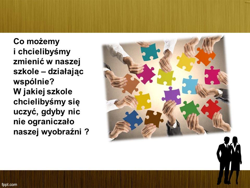 Co możemy i chcielibyśmy zmienić w naszej szkole – działając wspólnie