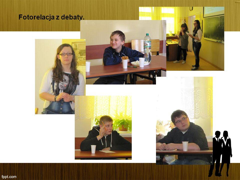 Fotorelacja z debaty.