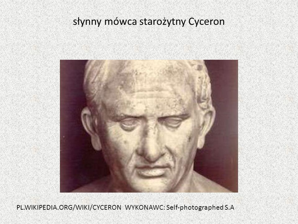 słynny mówca starożytny Cyceron