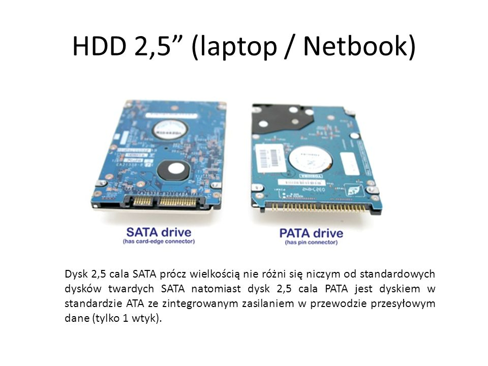 HDD 2,5 (laptop / Netbook)