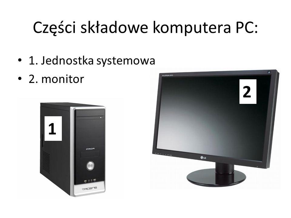 Części składowe komputera PC: