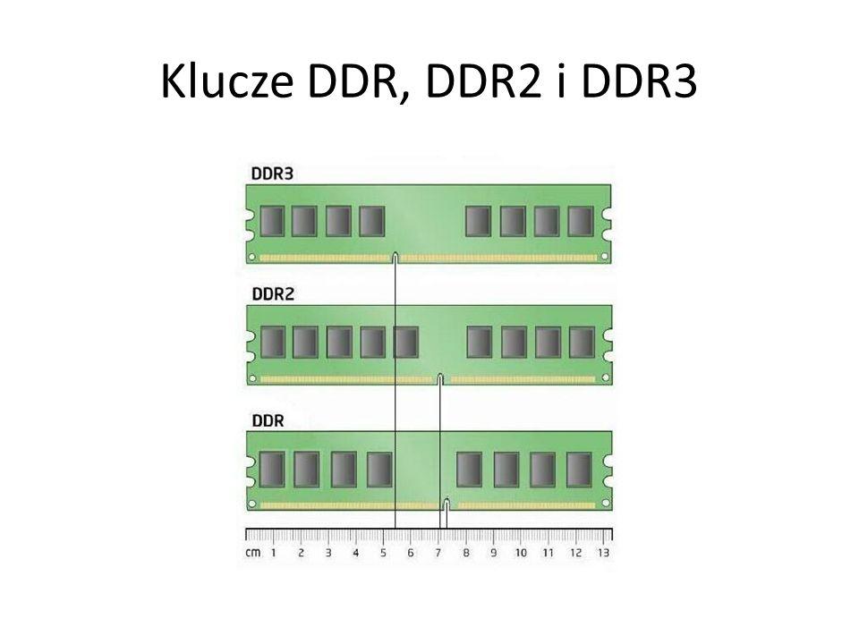 Klucze DDR, DDR2 i DDR3