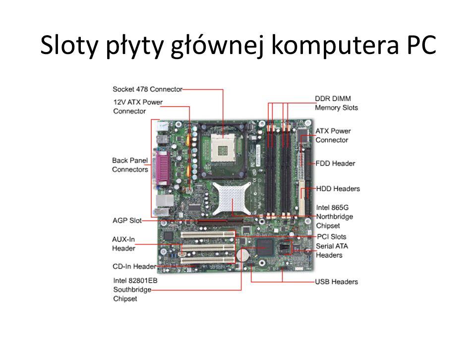 Sloty płyty głównej komputera PC