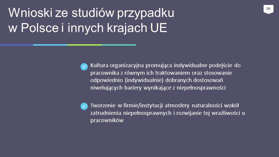 Wnioski ze studiów przypadku w Polsce i innych krajach UE
