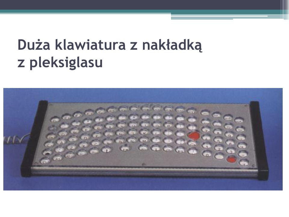 Duża klawiatura z nakładką z pleksiglasu