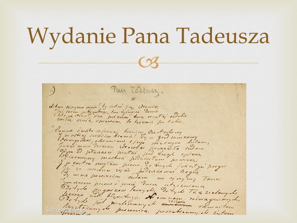 Wydanie Pana Tadeusza