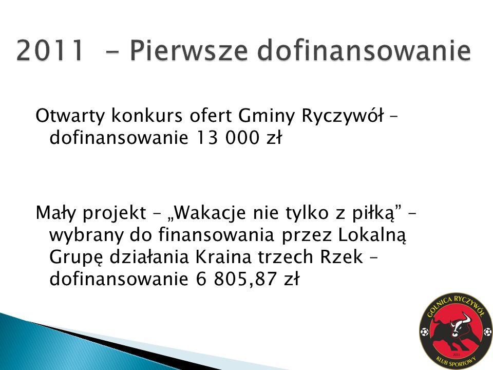 2011 - Pierwsze dofinansowanie