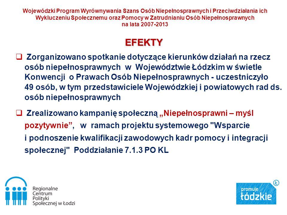 Wojewódzki Program Wyrównywania Szans Osób Niepełnosprawnych i Przeciwdziałania ich Wykluczeniu Społecznemu oraz Pomocy w Zatrudnianiu Osób Niepełnosprawnych na lata 2007-2013