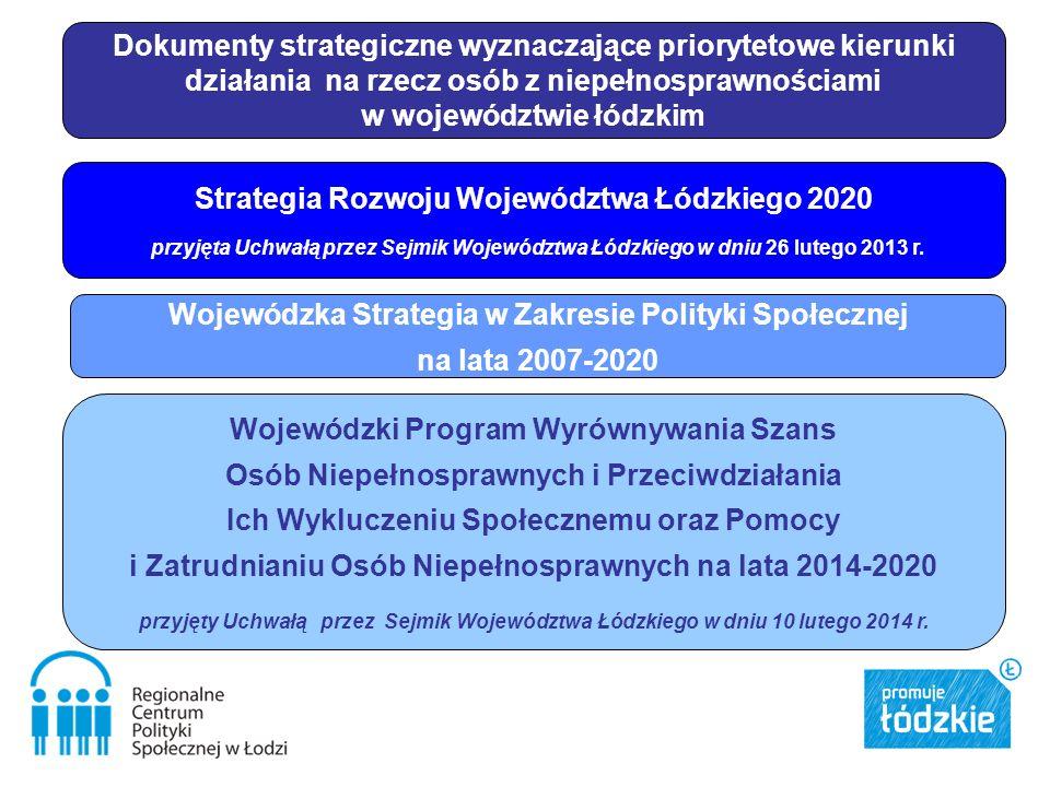 Wojewódzka Strategia w Zakresie Polityki Społecznej na lata 2007-2020