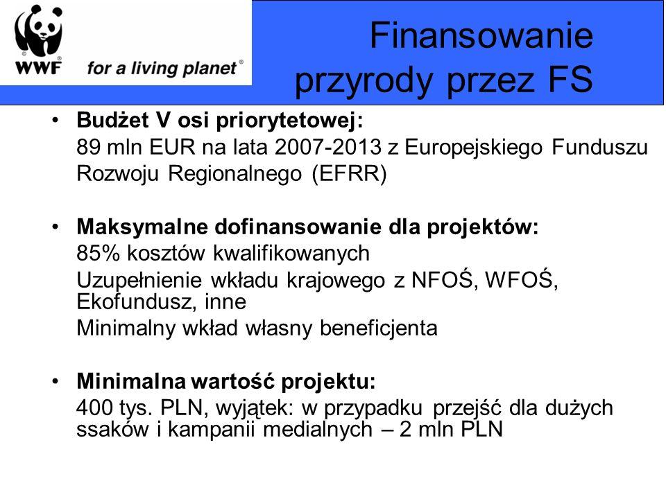 Finansowanie przyrody przez FS
