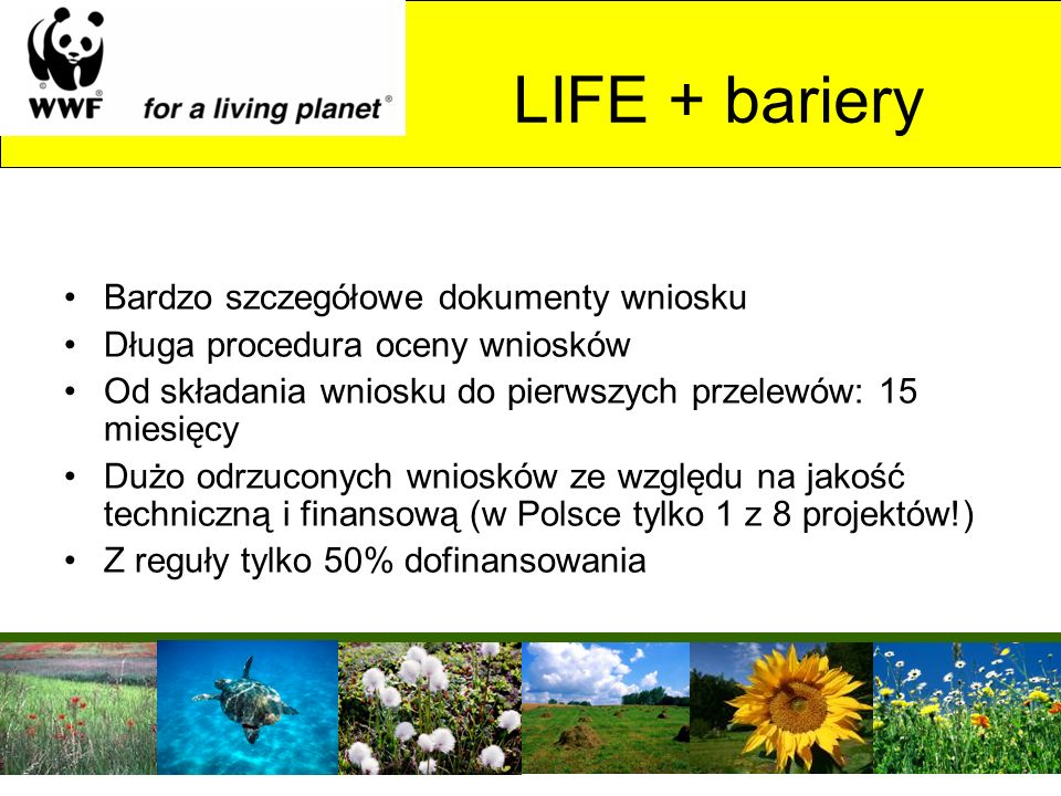 LIFE + bariery Bardzo szczegółowe dokumenty wniosku