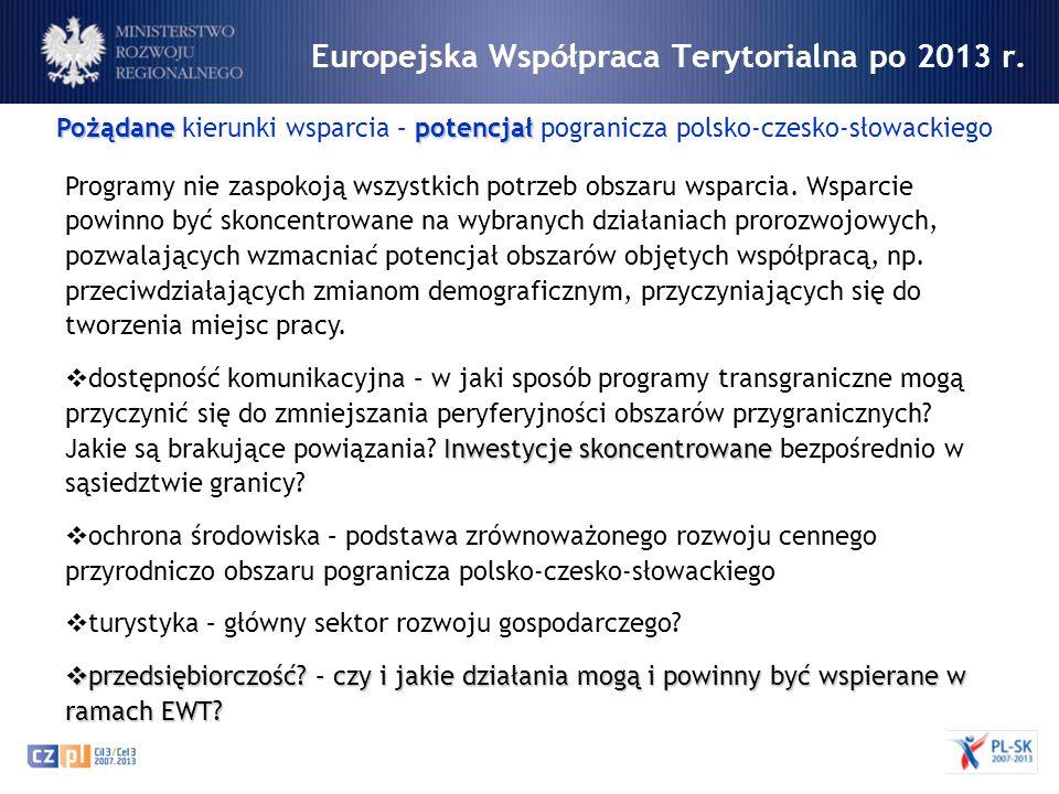 Europejska Współpraca Terytorialna po 2013 r.