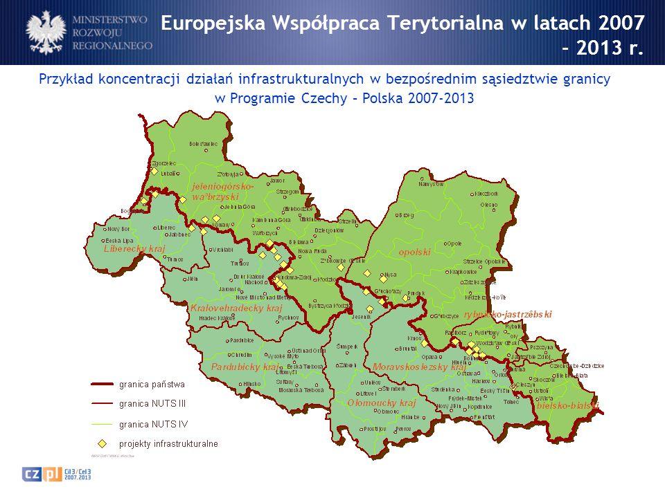 Europejska Współpraca Terytorialna w latach 2007 - 2013 r.