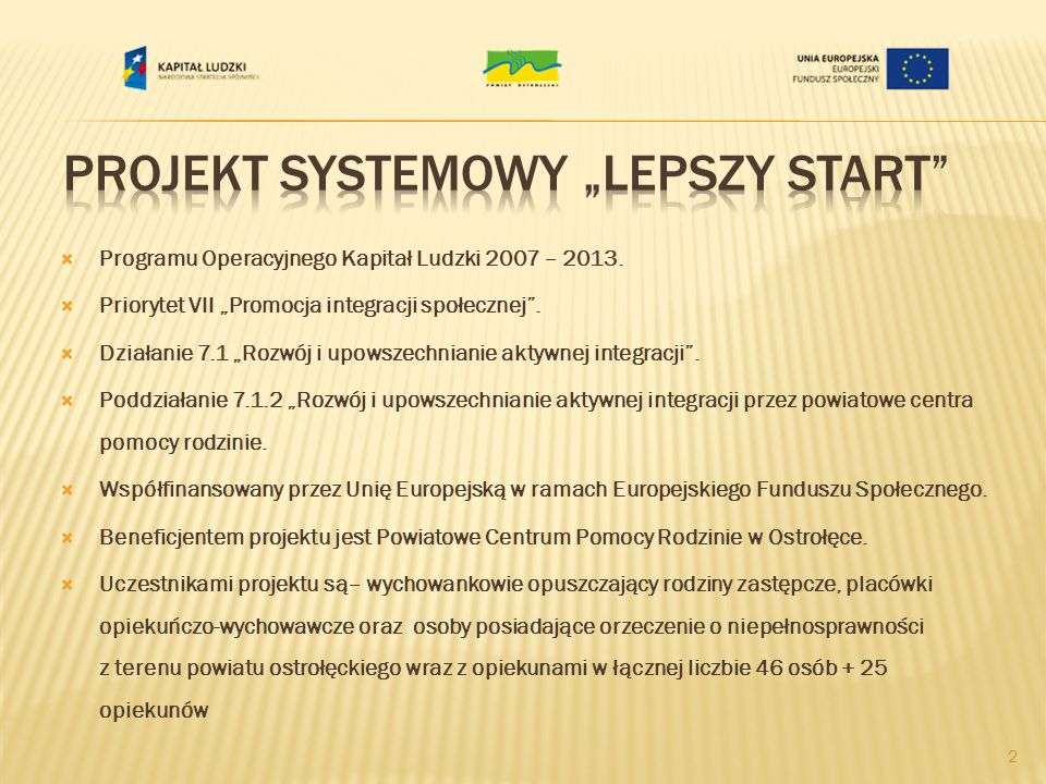 """Projekt Systemowy """"Lepszy Start"""