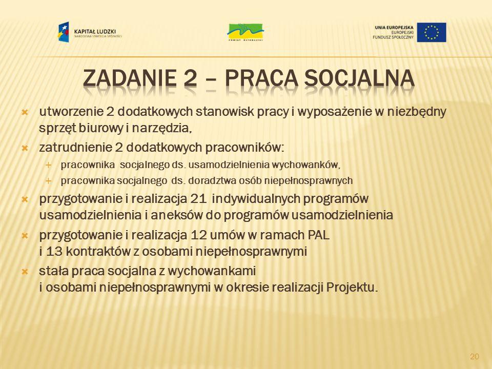 Zadanie 2 – praca socjalna