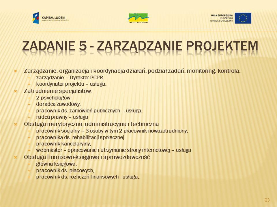 Zadanie 5 - Zarządzanie projektem