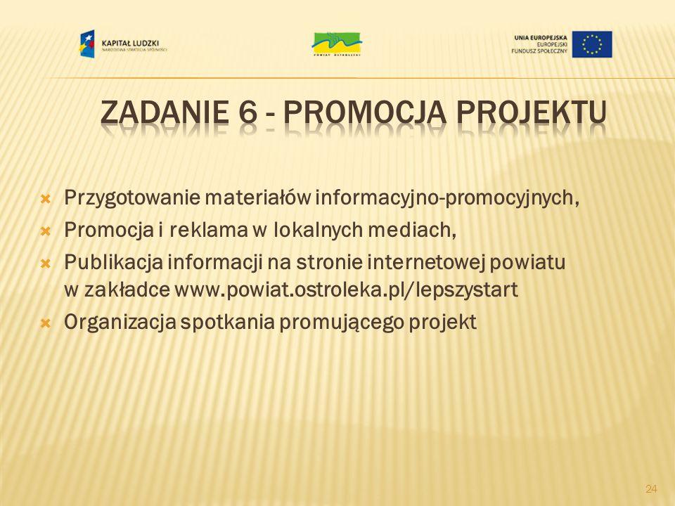 Zadanie 6 - Promocja projektu
