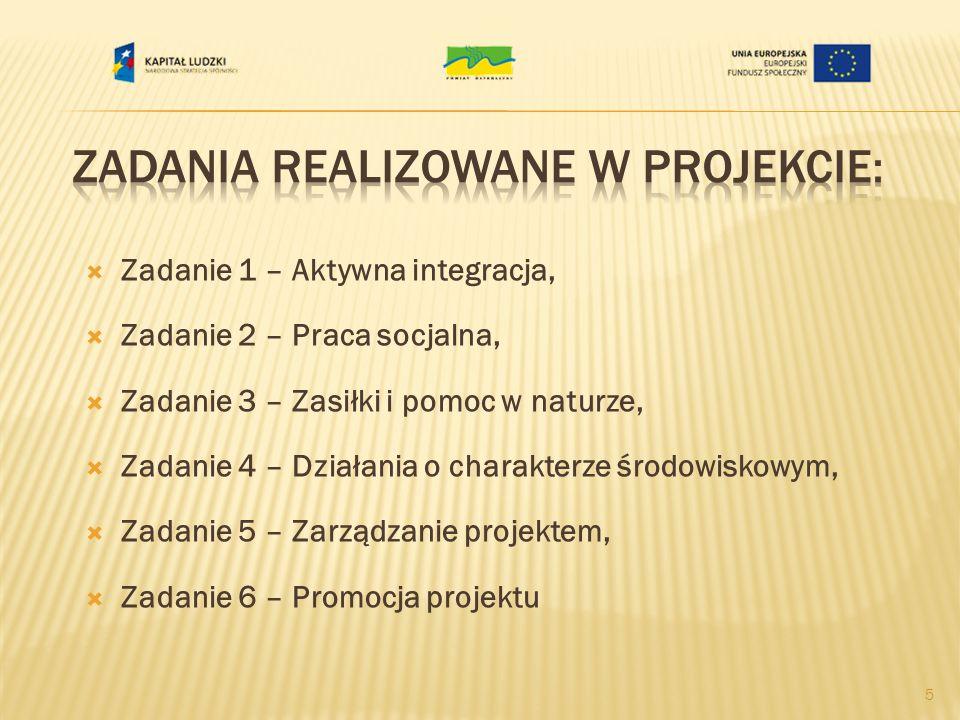 Zadania realizowane w Projekcie:
