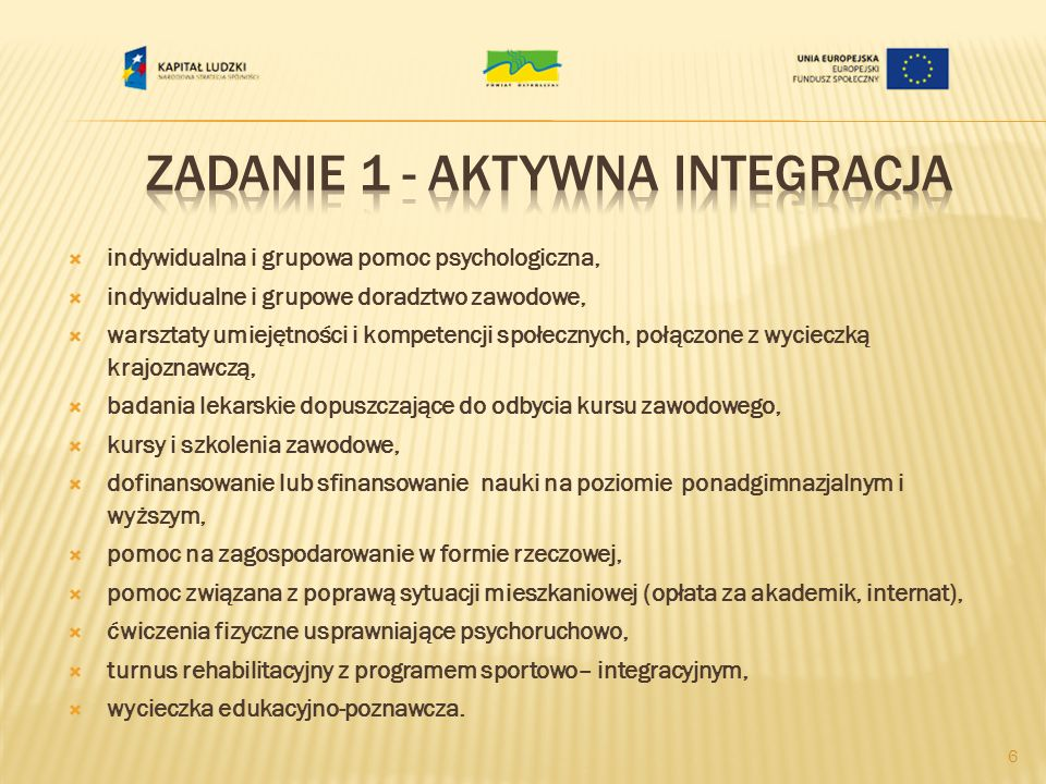 Zadanie 1 - Aktywna integracja