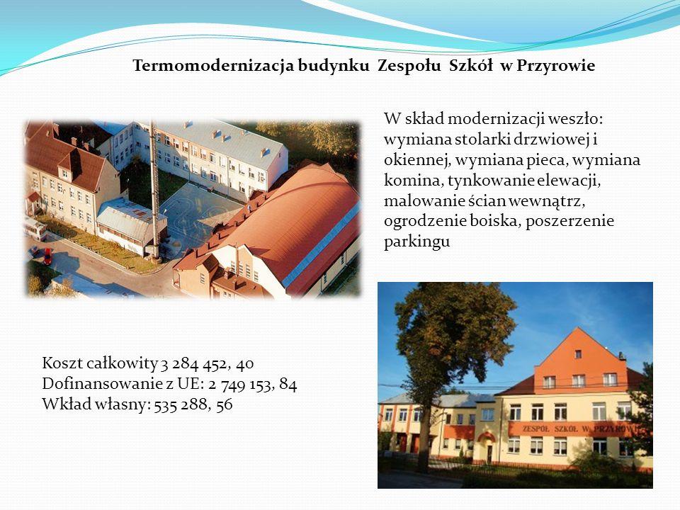 Termomodernizacja budynku Zespołu Szkół w Przyrowie