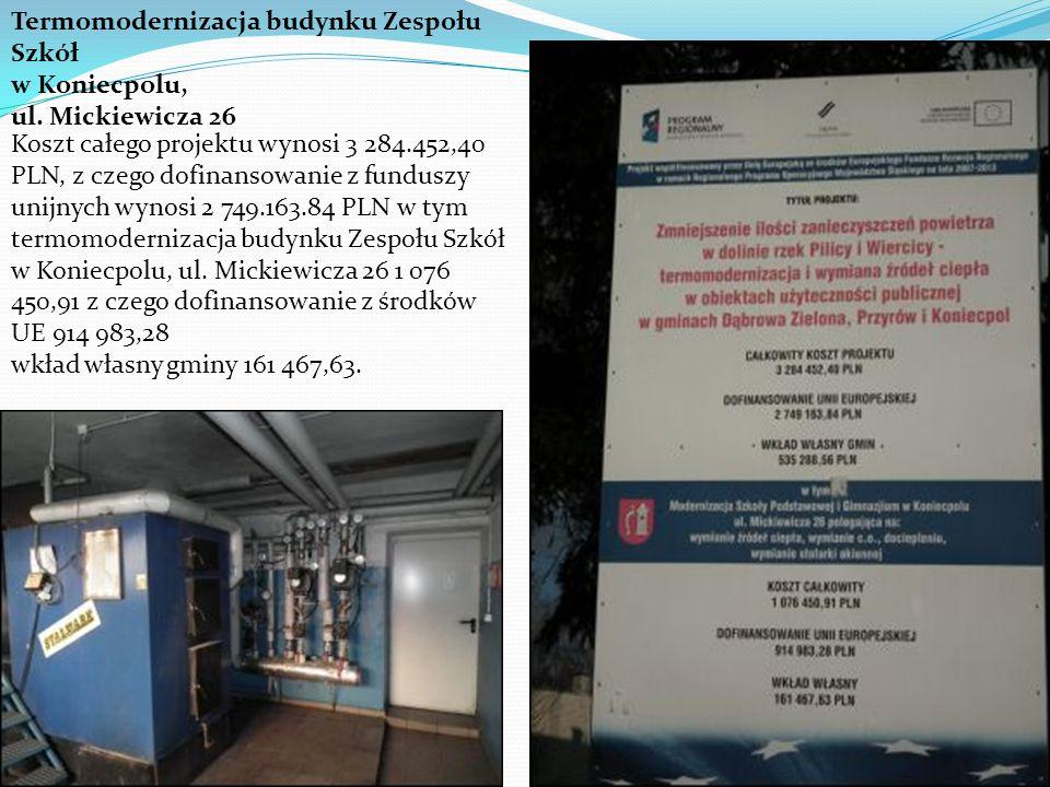 Termomodernizacja budynku Zespołu Szkół