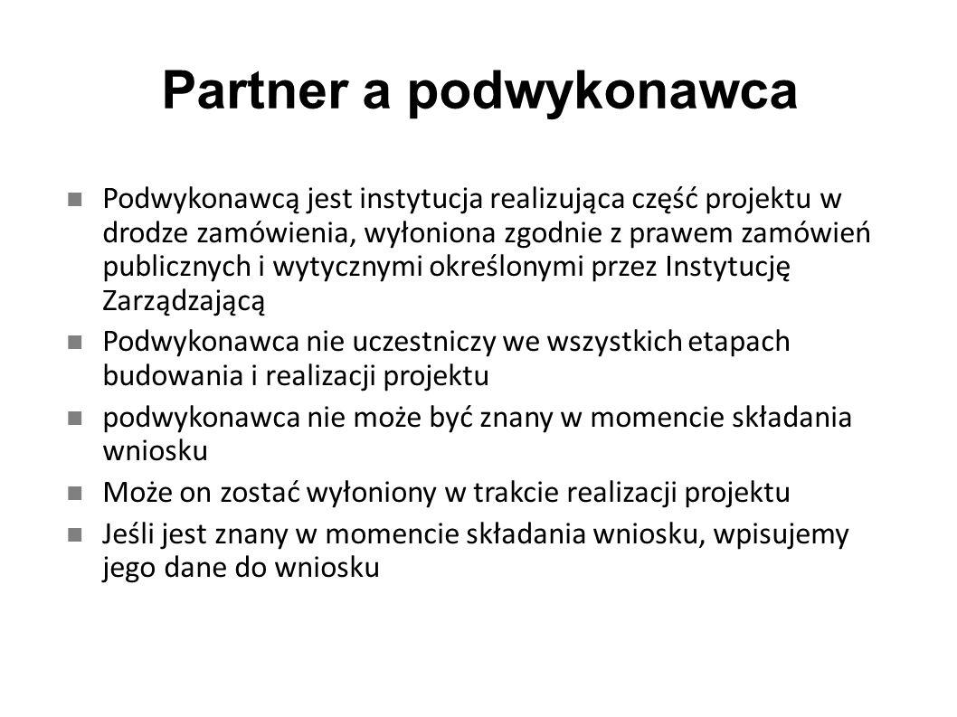 Partner a podwykonawca
