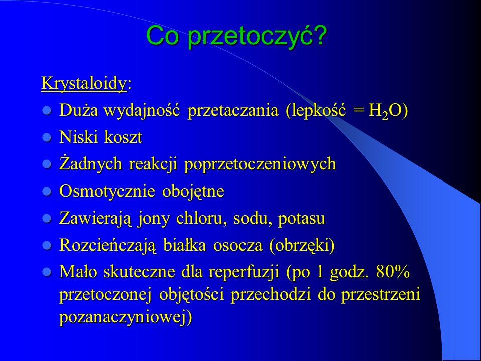 Co przetoczyć Krystaloidy: