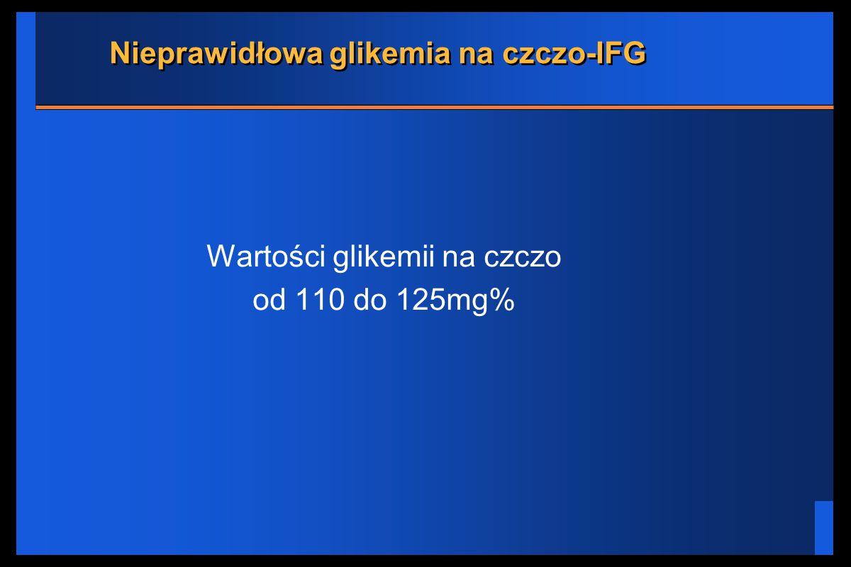 Nieprawidłowa glikemia na czczo-IFG