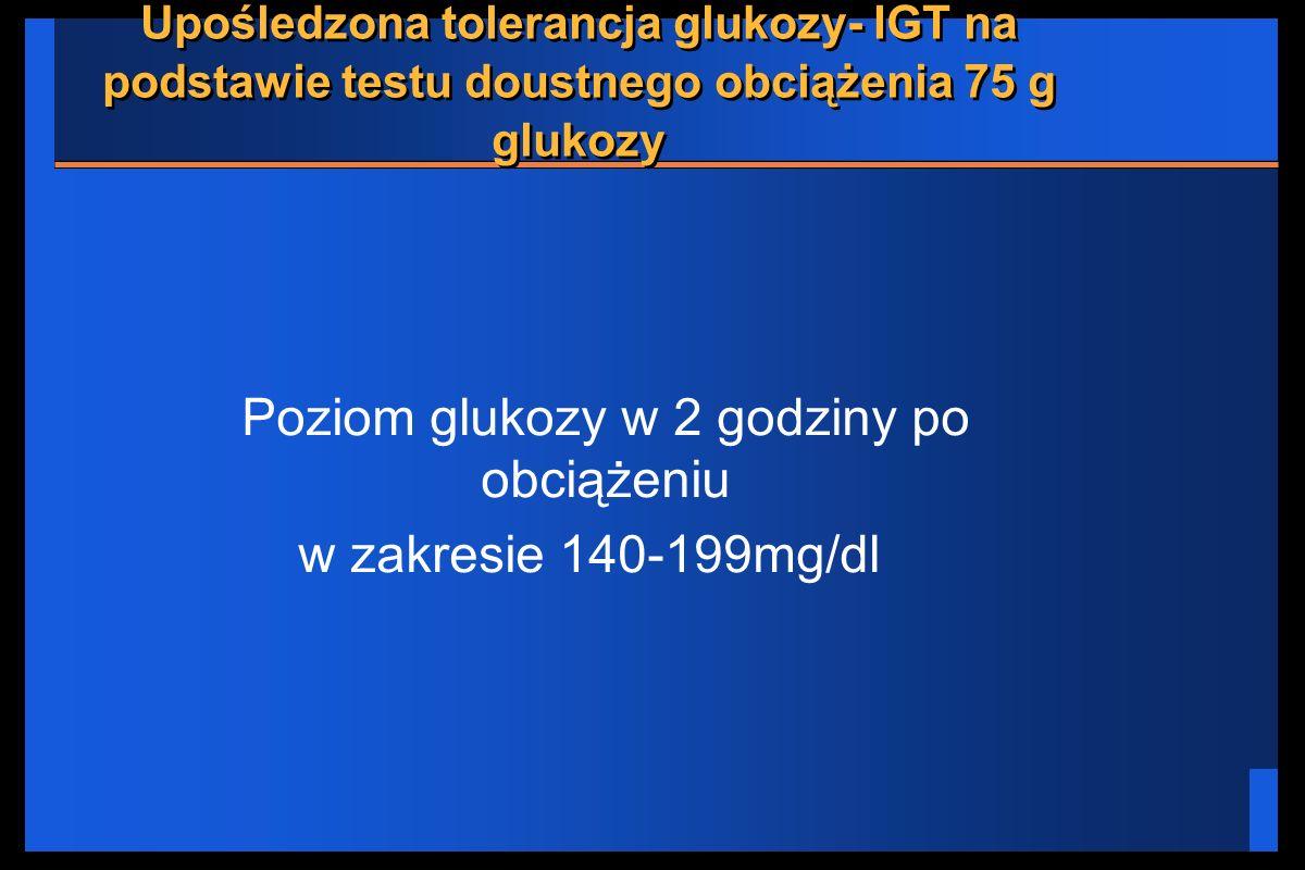 Poziom glukozy w 2 godziny po obciążeniu