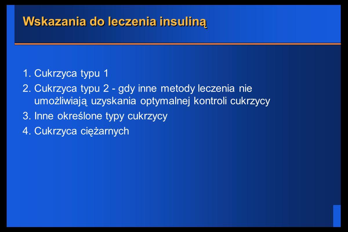 Wskazania do leczenia insuliną