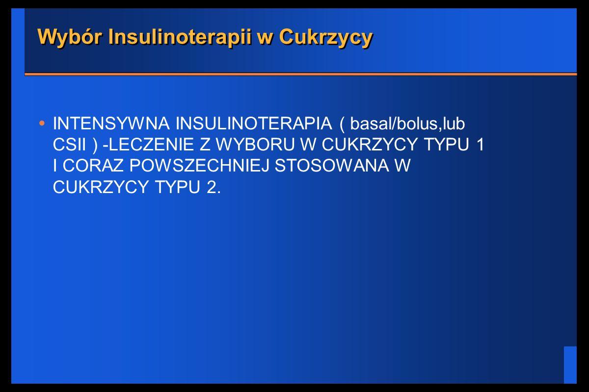 Wybór Insulinoterapii w Cukrzycy