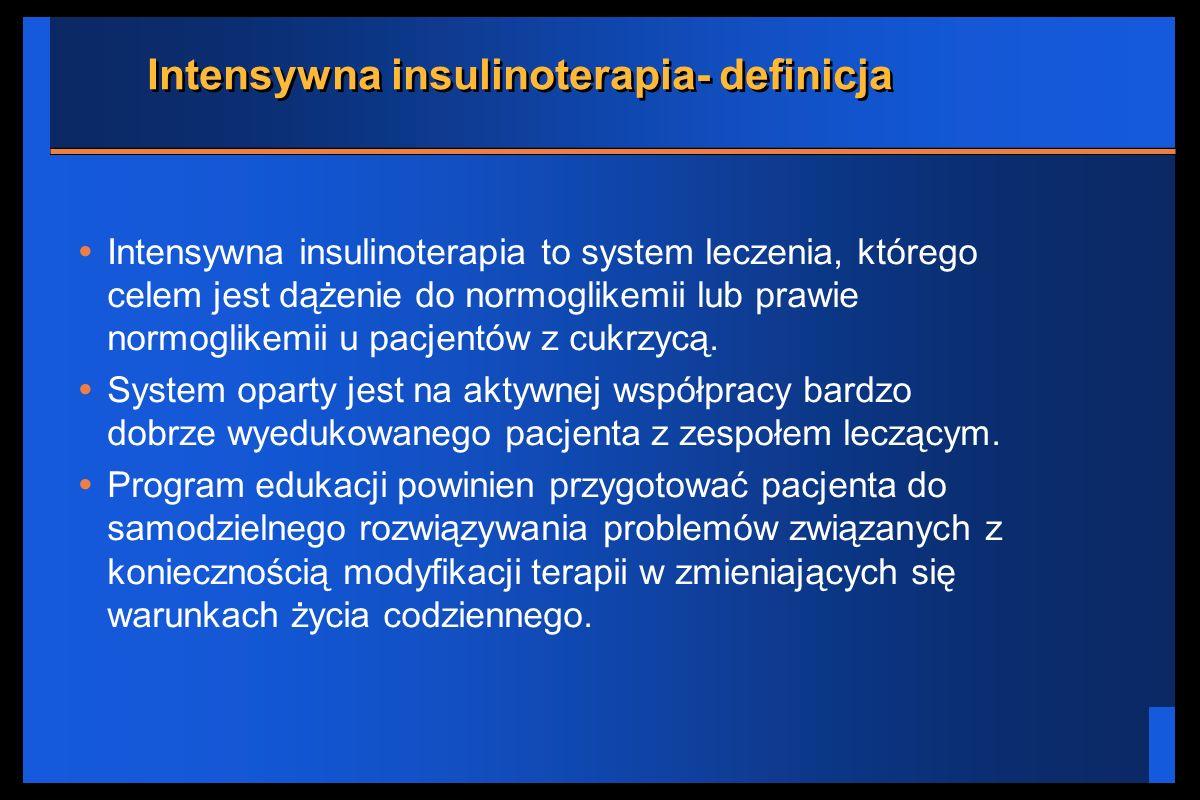 Intensywna insulinoterapia- definicja