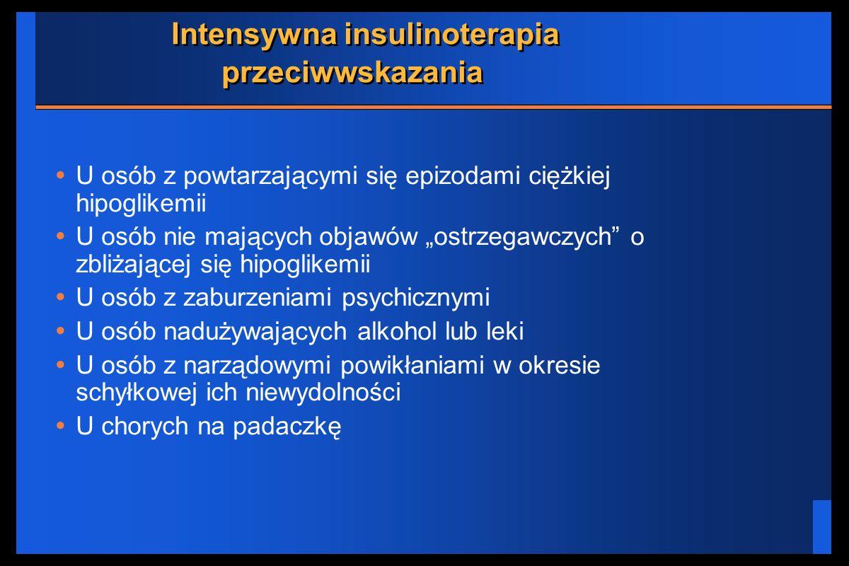 Intensywna insulinoterapia przeciwwskazania