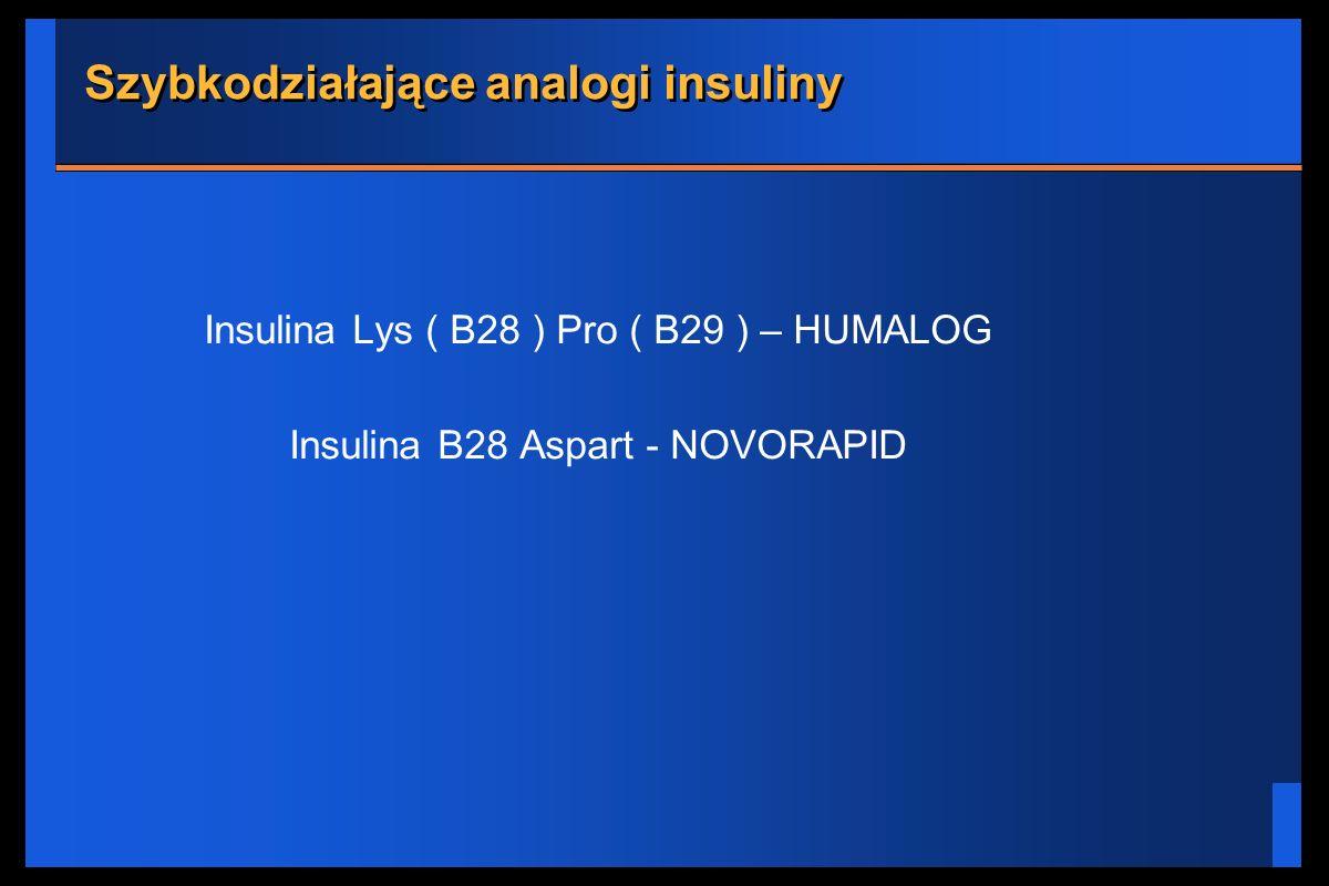Szybkodziałające analogi insuliny