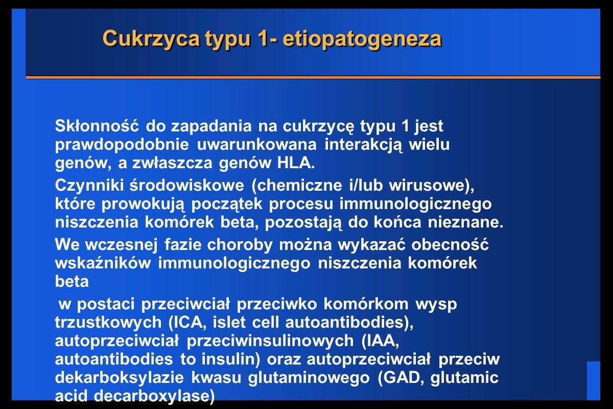 Cukrzyca typu 1- etiopatogeneza