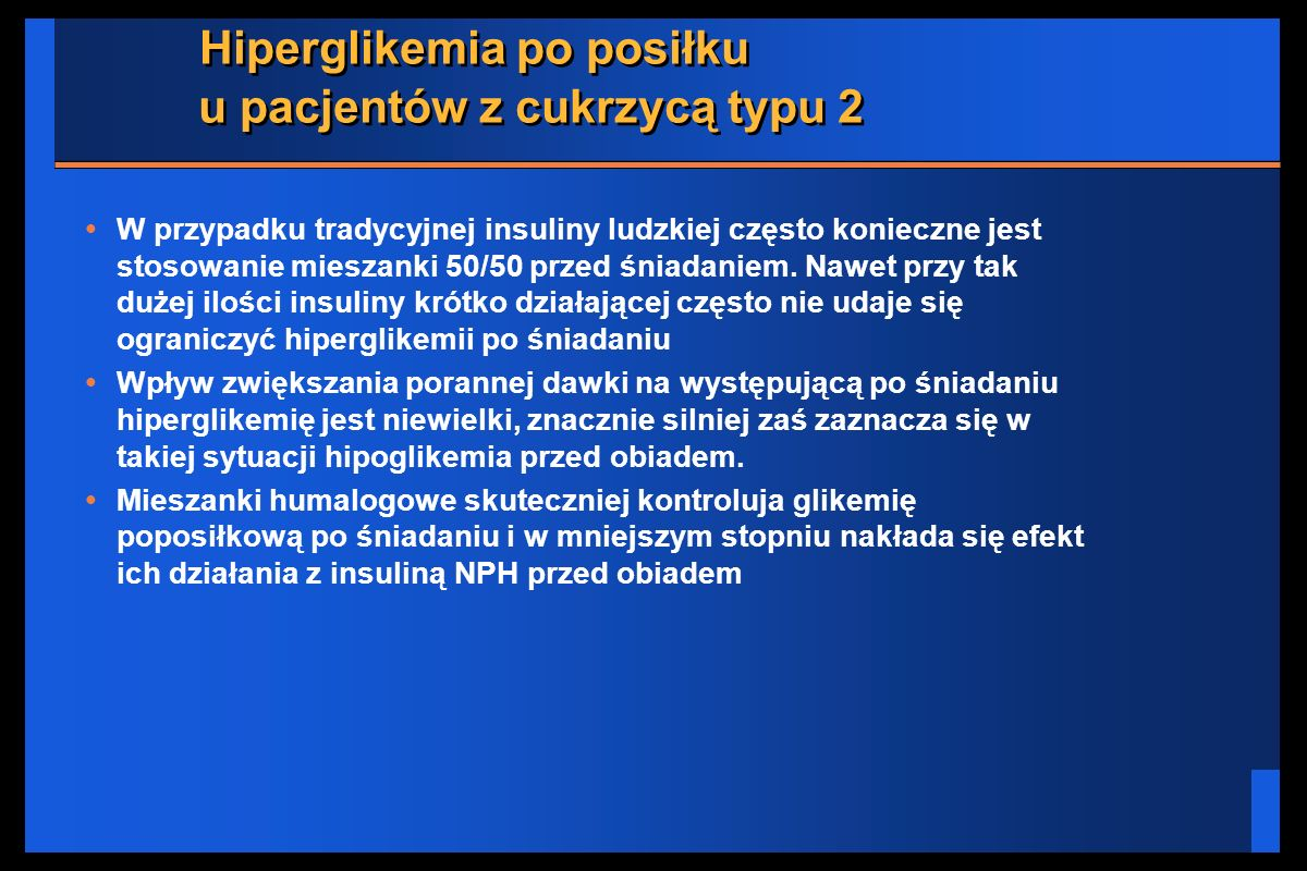 Hiperglikemia po posiłku u pacjentów z cukrzycą typu 2