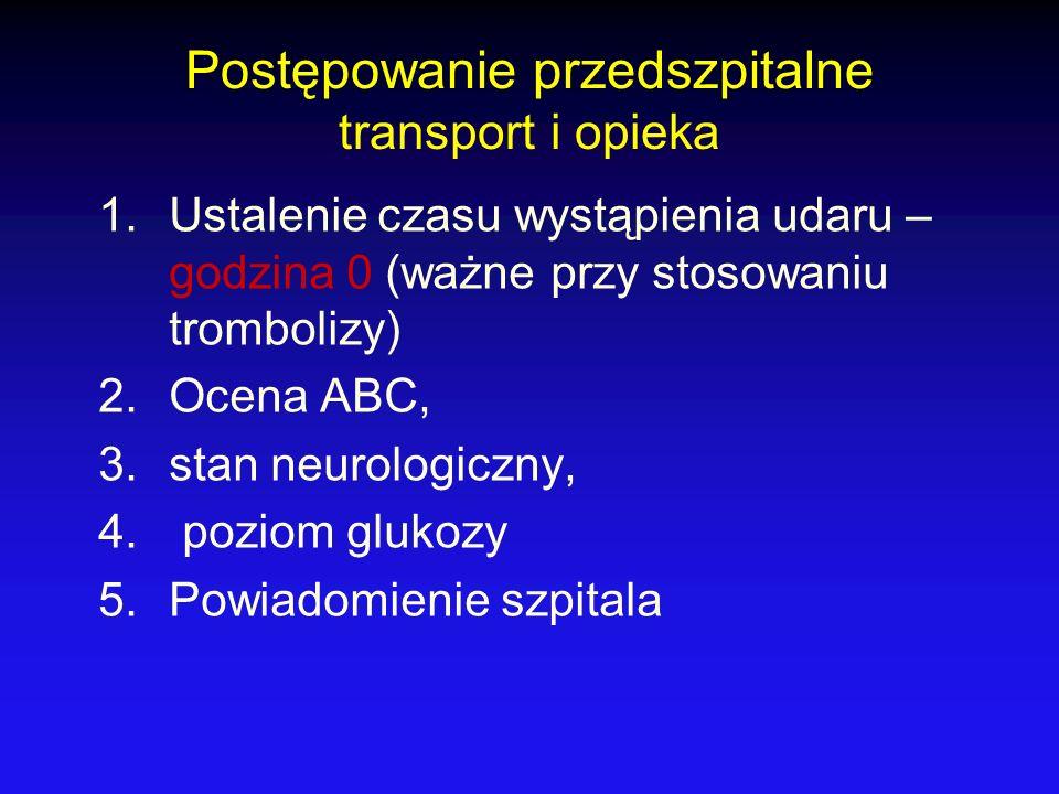 Postępowanie przedszpitalne transport i opieka
