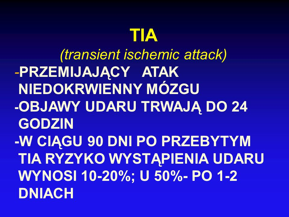 (transient ischemic attack)