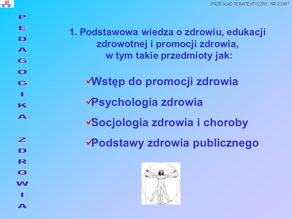 Wstęp do promocji zdrowia Psychologia zdrowia