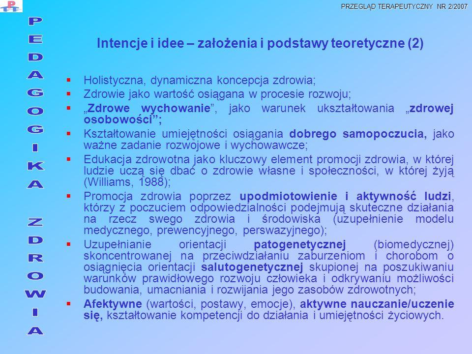 Intencje i idee – założenia i podstawy teoretyczne (2)