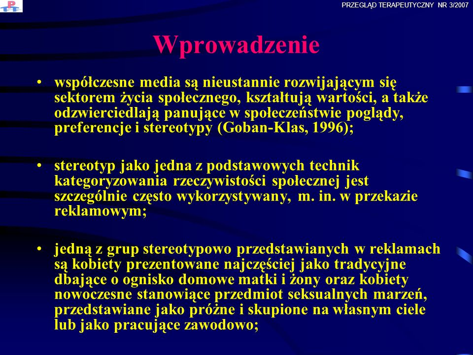 PRZEGLĄD TERAPEUTYCZNY NR 3/2007