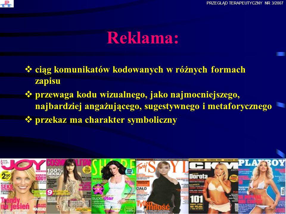 Reklama: ciąg komunikatów kodowanych w różnych formach zapisu