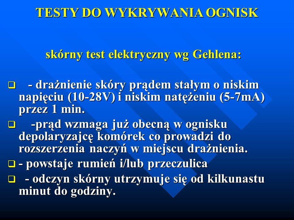 TESTY DO WYKRYWANIA OGNISK