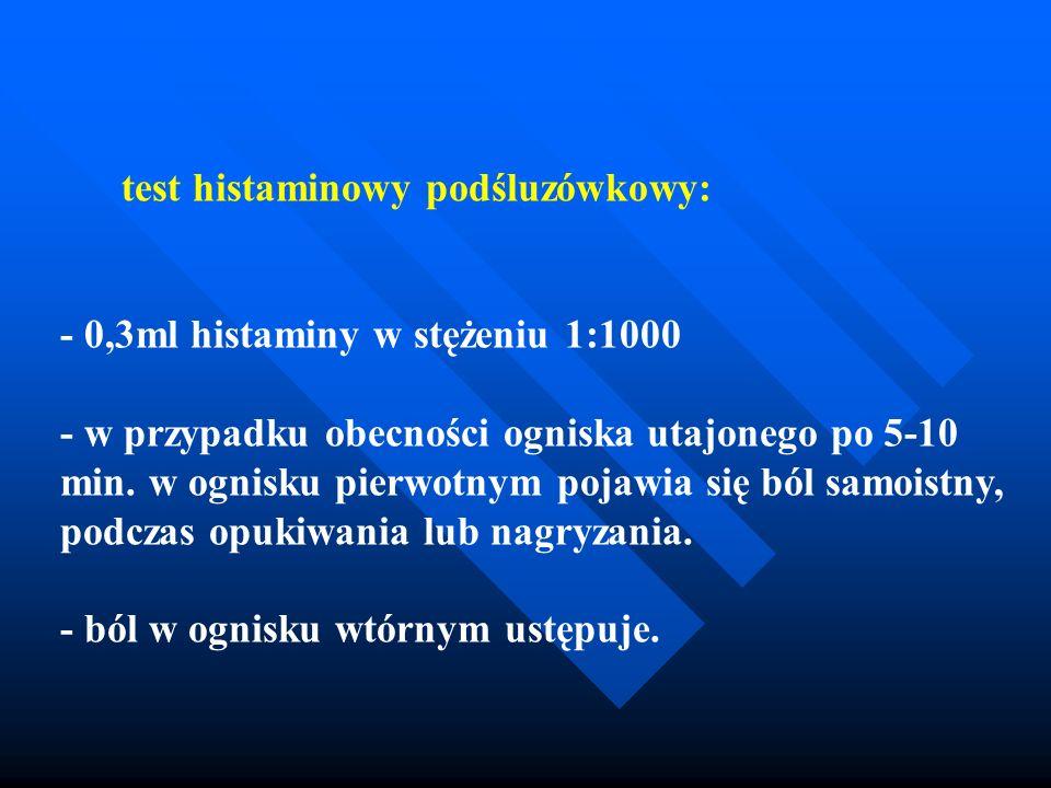 test histaminowy podśluzówkowy: