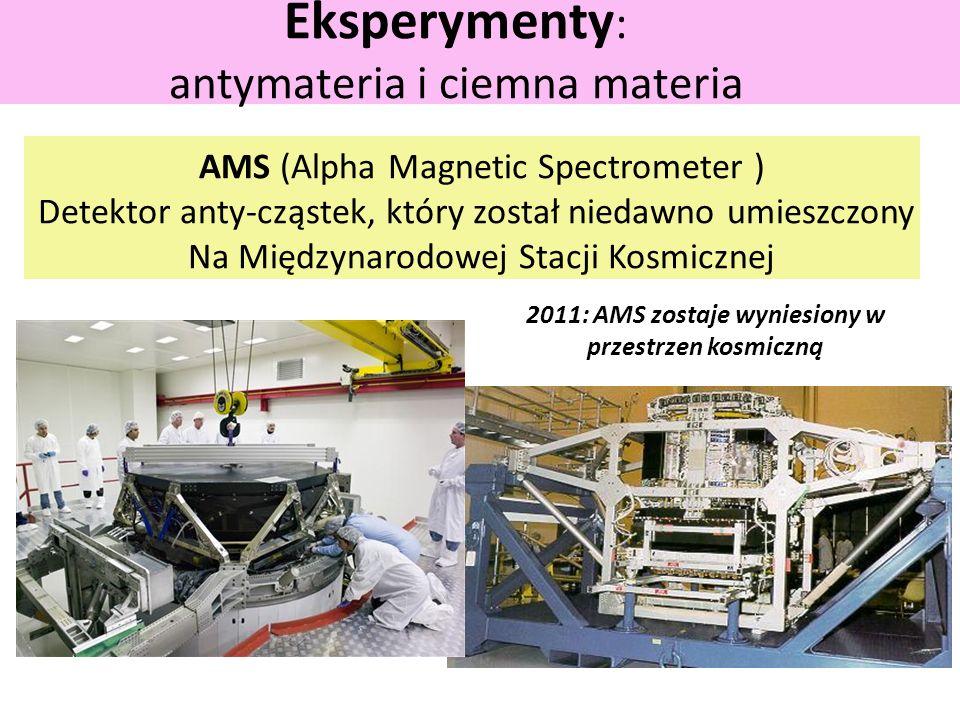 Eksperymenty: antymateria i ciemna materia