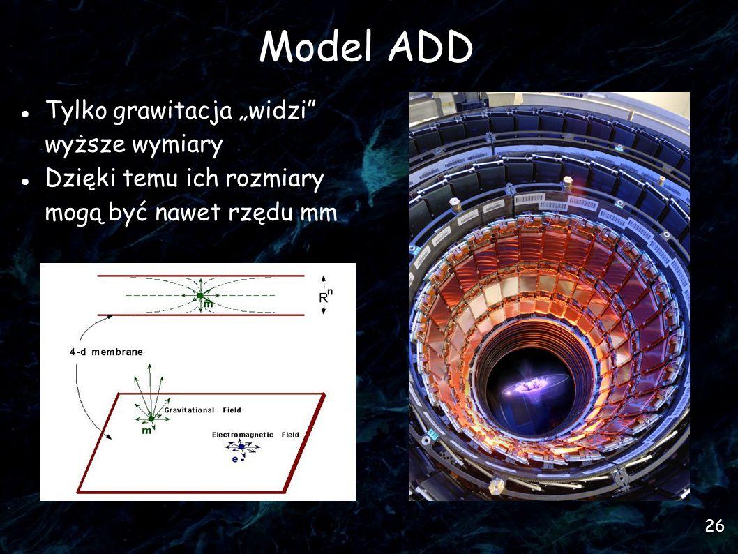 """Model ADD Tylko grawitacja """"widzi wyższe wymiary"""