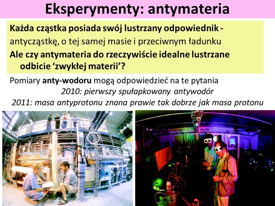 Eksperymenty: antymateria