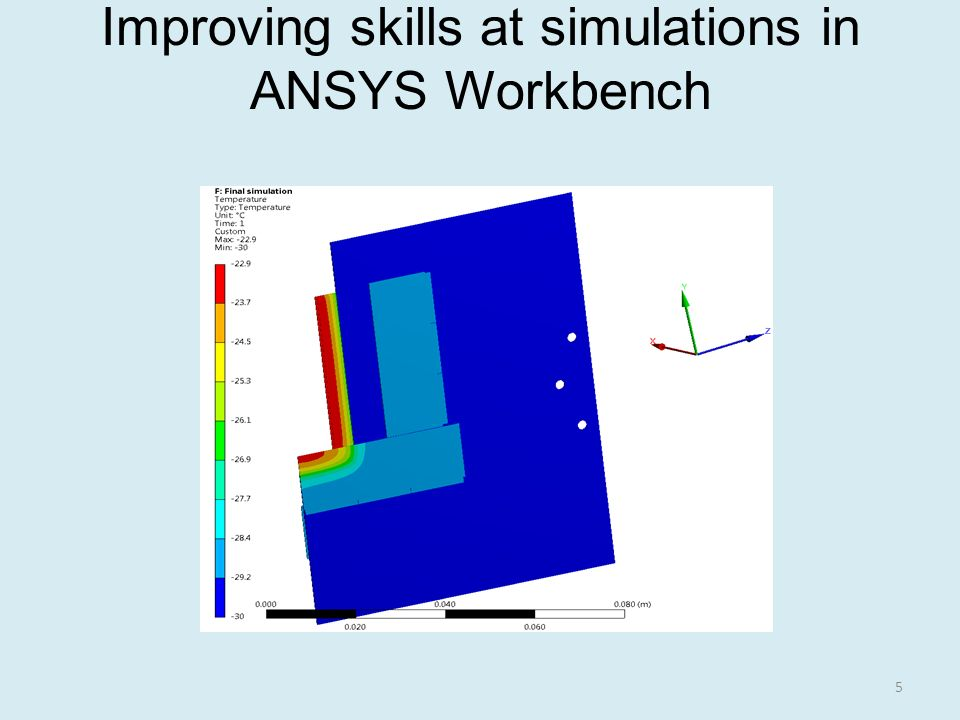 Improving skills at simulations in ANSYS Workbench