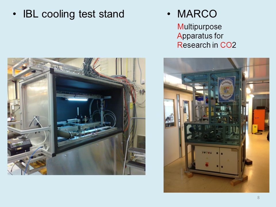 IBL cooling test stand MARCO
